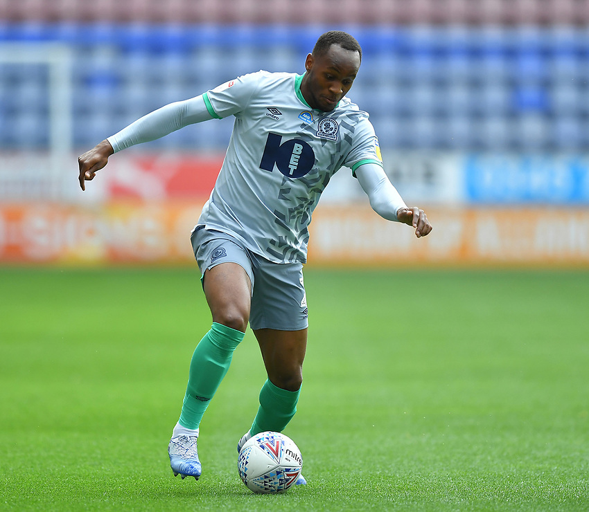 Blackburn Rovers' Ryan Nyambe<br /> <br /> Photographer Dave Howarth/CameraSport<br /> <br /> The EFL Sky Bet Championship - Wigan Athletic v Blackburn Rovers - Saturday 27th June 2020 - DW Stadium - Wigan<br /> <br /> World Copyright © 2020 CameraSport. All rights reserved. 43 Linden Ave. Countesthorpe. Leicester. England. LE8 5PG - Tel: +44 (0) 116 277 4147 - admin@camerasport.com - www.camerasport.com
