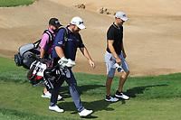 Shane Lowry (IRL) carries his own bag down the 18th during the Preview of the Saudi International at the Royal Greens Golf and Country Club, King Abdullah Economic City, Saudi Arabia. 28/01/2020<br />