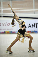 CALI – COLOMBIA – 21 – 09 – 2015: Paige Long, deportista de Gran Bretaña, durante la prueba de Solo Danza Juvenil Damas en el LX Campeonato Mundial de Patinaje Artistico, en el Velodromo Alcides Nieto Patiño de la ciudad de Cali. / Paige Long, sportwoman from Great Britain, during the Compulsory Solo Dance Junior Ladies test, in the LX World Championships Figure Skating, at the Alcides Nieto Patiño Velodrome in Cali City. Photo: VizzorImage / Luis Ramirez / Staff.