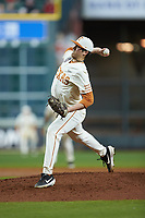 Texas Longhorns starting pitcher Ty Madden (32) in action against the Arkansas Razorbacks in game six of the 2020 Shriners Hospitals for Children College Classic at Minute Maid Park on February 28, 2020 in Houston, Texas. The Longhorns defeated the Razorbacks 8-7. (Brian Westerholt/Four Seam Images)