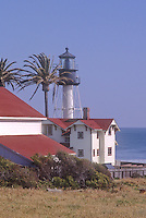 Point Loma Lighthouse sits on a bluff over looking the Pacific Ocean in San Diego, California
