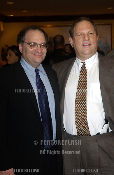 Miramax founders BOB (left) & HARVEY WEINSTEIN at the National Multiple Sclerosis Society's 29th Annual Dinner of Champions where they were honored..Sept 25, 2003