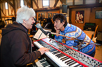 PHOTO By &copy; Stephen Daniels  <br /> Ronny Woods &amp; Ian McLagan,The Face rehearsal