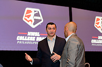 Philadelphia, PA - Thursday January 18, 2018: Vlatko Andonovski during the 2018 NWSL College Draft at the Pennsylvania Convention Center.