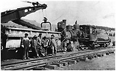 D&amp;RGW locomotive #201 with work train.<br /> D&amp;RGW  Cumbres, CO  1925