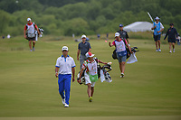 Hideki Matsuyama (JPN) approaches the green on 1 during round 4 of the AT&T Byron Nelson, Trinity Forest Golf Club, at Dallas, Texas, USA. 5/20/2018.<br /> Picture: Golffile | Ken Murray<br /> <br /> All photo usage must carry mandatory copyright credit (© Golffile | Ken Murray)