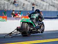 Mar 16, 2018; Gainesville, FL, USA; NHRA nitro top fuel Harley Davidson motorcycle rider Tracy Kile during qualifying for the Gatornationals at Gainesville Raceway. Mandatory Credit: Mark J. Rebilas-USA TODAY Sports