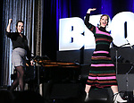 "Kathryn Gallagher and Elizabeth Stanley from the ""Jagged Little Pill during the BroadwayCON 2020 First Look at the New York Hilton Midtown Hotel on January 24, 2020 in New York City."