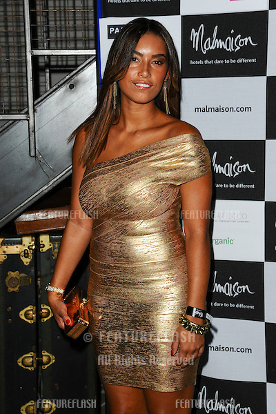 Chantelle Heskey arrives for the Malmaison Hotel Liverpool re-opening party...23/09/2011  Picture by Steve Vas/Featureflash