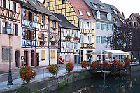 restaurant terrace little venice q de la poissonnerie colmar alsace france