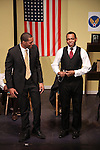 Guiding Light's Lawrence Saint-Victor & Ananias Dixon star in Black Angels Over Tuskegee on January 24, 2011 at the Actors Temple Theatre, New York City, New York. (Photo by Sue Coflin/Max Photos)