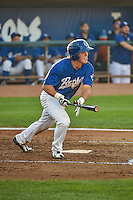 Gage Green (21) of the Ogden Raptors at bat against the Idaho Falls Chukars in Pioneer League action at Lindquist Field on August 27, 2015 in Ogden, Utah.Ogden defeated the Chukars 4-3.  (Stephen Smith/Four Seam Images)