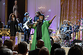 Singer Patti LaBelle (C) performs 'Over the Rainbow' during the event, 'In Performance at the White House - Women of Soul', in the East Room of the White House in Washington DC, USA, 06 March 2014. The event was held to celebrate American music legends and contemporary major female artists.<br /> Credit: Michael Reynolds / Pool via CNP