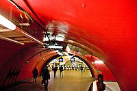 Underground tunnel opening onto platform in Paris Metro..©shoutpictures.com.john@shoutpictures.com