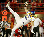 VERMILLION, SD - NOVEMBER 18: Dallas Goedert #86 from South Dakota State University brings in a one handed catch over Isaac Armstead #29 from the University of South Dakota during their game Saturday afternoon at the DakotaDome in Vermillion. (Photo by Dave Eggen/Inertia)