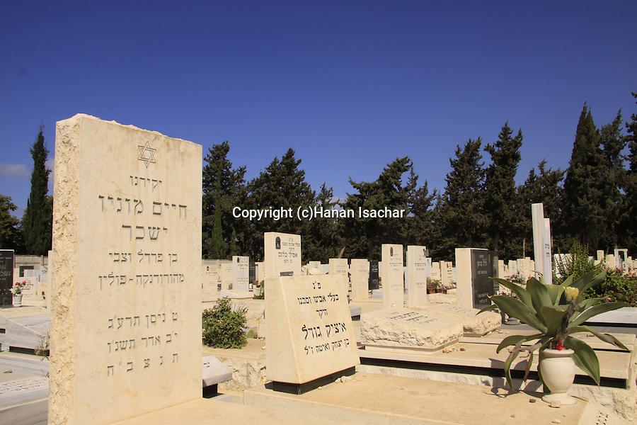Israel, the jewish cemetery in Herzliya