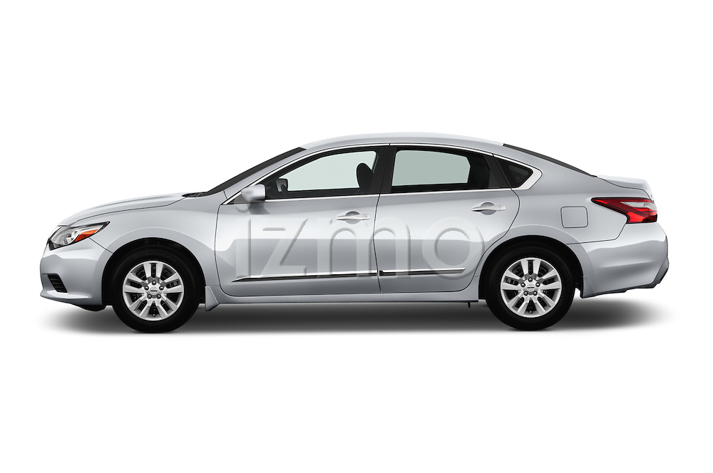 Car Driver side profile view of a 2016 Nissan Altima S 4 Door Sedan Side View