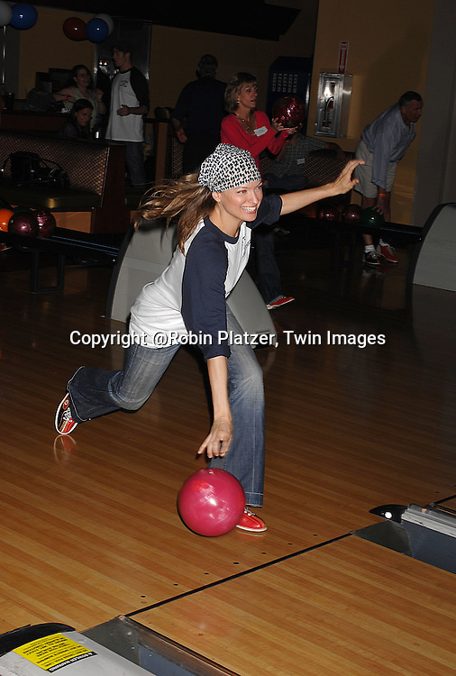 Nicole Forester..at The Daytime Stars and Strikes Bowling Event benefitting The American Cancer Society on October 7, 2007 at ..Chelsea Piers Lanes. ..photo by Robin Platzer, Twin Images......212-935-0770