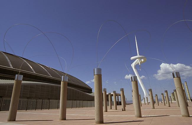 Espagne/Catalogne/Barcelone/Quartier Montju'c/Anneau olympique/..Sculpture Utsurohi