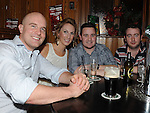 James Gutridge, Tricia Dowling, Gary Hughes and Danny Campbell enjoying the new year celebrations at McPhail's. Photo: Colin Bell/pressphotos.ie