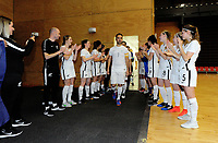 The Futsal Ferns clap the Futsal Whites out for the international men's futsal match between the NZ Futsal Whites and New Caledonia at Baypark Arena in Mount Maunganui, New Zealand on Thursday, 14 September 2017. Photo: Dave Lintott / lintottphoto.co.nz
