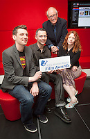 ***NO FEE PIC ***<br /> 05/06/2013 <br /> (L to R) Jury Member Nicky Phelan, Director of Mums &amp; Dad Dara deFaoite who was nominated for his film, Jury Member John Kelleher Former Director IFCO &amp; Jury Member  Kirsten Sheridan  during  the shortlist for the 5th annual Irish Council for Civil Liberties Human Rights Film awards at  the IFCO in Smithfield, Dublin.<br /> Photo:  Gareth Chaney Collins