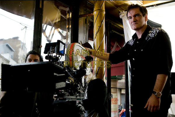 QUENTIN TARANTINO (DIRECTOR).on the set of Inglourious Basterds (Inglorious Bastards).*Filmstill - Editorial Use Only*.CAP/FB.Supplied by Capital Pictures.