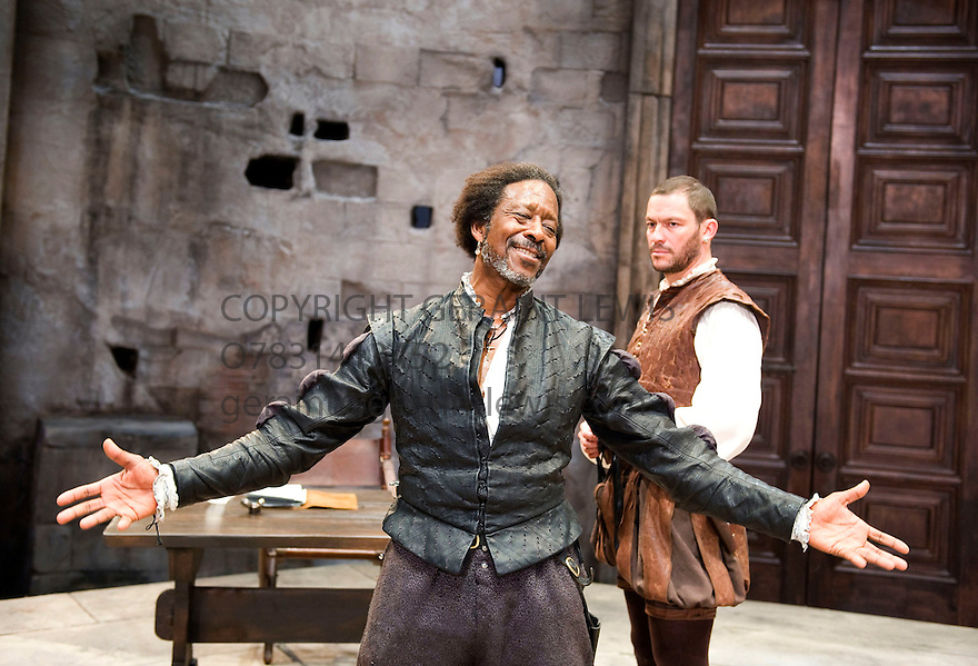 Othello by William Shakespeare directed by Daniel Evans.With Clarke Peters as Othello, Dominic West as Iago. Opens at The Sheffield Crucible Theatre  on 20/9/11 . CREDIT Geraint Lewis