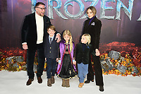 "Guy Ritchie, Jaqui Ainsley and family<br /> arriving for the ""Frozen 2"" premiere at the BFI South Bank, London.<br /> <br /> ©Ash Knotek  D3537 17/11/2019"