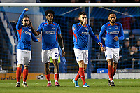 Ben Close of Portsmouth second right scores the first goal during Portsmouth vs Altrincham, Emirates FA Cup Football at Fratton Park on 30th November 2019