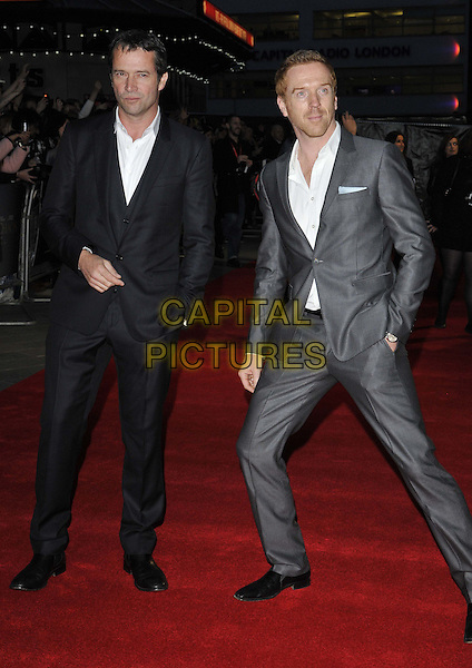 LONDON, ENGLAND - OCTOBER 17: James Purefoy &amp; Damian Lewis attend the &quot;A Little Chaos&quot; Love gala screening, 58th LFF day 10, Odeon West End cinema, Leicester Square, on Friday October 17, 2014 in London, England, UK. <br /> CAP/CAN<br /> &copy;Can Nguyen/Capital Pictures