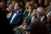 First lady Melania Trump listens as United States President Donald J. Trump delivers remarks at the Ford's Theatre Society Annual Gala at Ford's Theatre in Washington, D.C. on Sunday June 2, 2019. <br /> Credit: Sarah Silbiger / Pool via CNP
