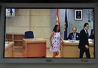 Pool/EFE/DYDPPA.Captured images of the institutional video signal showing the President of the Government, Mariano Rajoy, during his testimony at the National Court in San Fernando de Henares (Madrid) In the macrojudgment of corruption of the Gürtel plot.