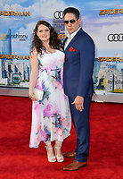 Lauren Ash &amp; Umberto Gonzalez at the world premiere for &quot;Spider-Man: Homecoming&quot; at the TCL Chinese Theatre, Los Angeles, USA 28 June  2017<br /> Picture: Paul Smith/Featureflash/SilverHub 0208 004 5359 sales@silverhubmedia.com