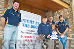 DOGS: Members of Keel GAA Club which is hosting a Night at the Dogs on 13th September to raise funds for developing their club rooms, l-r: Brian Prendergast (Secretary), Aaron Murphy, Jim Foley, Ciara Murphy, Michael Murphy and Keelan Foley.   Copyright Kerry's Eye 2008