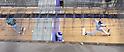 Hisashi Iwakuma (Mariners), Yu Darvish (Rangers),.APRIL 12, 2013 - MLB :.Starting pitchers Hisashi Iwakuma of the Seattle Mariners and Yu Darvish of the Texas Rangers warm up in the bullpen before the baseball game at Safeco Field in Seattle, Washington, United States. (Photo by AFLO)