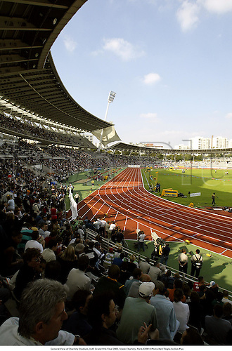 General View of Charlety Stadium, IAAF Grand Prix Final 2002, Stade Charlety, Paris 020914 Photo:Neil Tingle/Action Plus...Athletics.track and field.venue venues track tracks stadiums