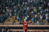 SÃO PAULO, SP 27.08.2019: PALMEIRAS-GRÊMIO - Weverton comemora gol. Palmeiras e Grêmio, durante partida válida pelas quartas de final da Libertadores, no Pacaembu, zona oeste da capital, na noite desta terça-feira (27). (Foto: Ale Frata/Código19)