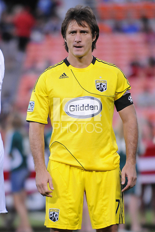 Columbus Crew forward Guillermo Barros Schelotto (7)  The Columbus Crew defeated DC United 1-0 at RFK Stadium, Saturday September 4, 2010.