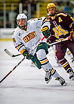 24 November 2012: University of Vermont Catamount forward Pete Massar, a Junior from Williston, VT, in first period action against the University of Minnesota Golden Gophers at Gutterson Fieldhouse in Burlington, Vermont. The Catamounts fell to the Gophers 3-1 in the second game of their 2-game non-divisional weekend series. Mandatory Credit: Ed Wolfstein Photo