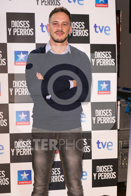 """Elio Gonzalez attends the """"DIOSES Y PERROS """" Movie presentation at Kinepolis Cinema in Madrid, Spain. October 6, 2014. (ALTERPHOTOS/Carlos Dafonte)"""
