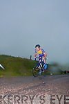 Cyclists taking part in the hillclimb up the short mountain on Saturday afternoon.