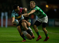 Harlequins' Ben Tapuai in action during todays match<br /> <br /> Photographer Bob Bradford/CameraSport<br /> <br /> Gallagher Premiership Round 7 - Harlequins v Newcastle Falcons - Friday 16th November 2018 - Twickenham Stoop - London<br /> <br /> World Copyright © 2018 CameraSport. All rights reserved. 43 Linden Ave. Countesthorpe. Leicester. England. LE8 5PG - Tel: +44 (0) 116 277 4147 - admin@camerasport.com - www.camerasport.com
