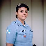 Police officer Jacqueline Brandao, 32<br /> Administration<br /> Pacifying Police Unit<br /> Complexo do Caju, Rio de Janeiro, Brazil
