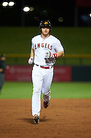 Mesa Solar Sox catcher Stephen McGee (8) runs the bases after hitting a home run during an Arizona Fall League game against the Salt River Rafters on October 23, 2015 at Sloan Park in Mesa, Arizona.  Salt River defeated Mesa 5-1.  (Mike Janes/Four Seam Images)