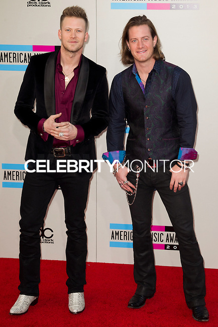 LOS ANGELES, CA - NOVEMBER 24: Brian Kelley, Tyler Hubbard of Florida Georgia Line arriving at the 2013 American Music Awards held at Nokia Theatre L.A. Live on November 24, 2013 in Los Angeles, California. (Photo by Celebrity Monitor)