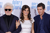 MADRID, SPAIN - March 13: Pedro Almodovar, Penelope Cruz and Antonio Banderas at the premiere on Dolor y Gloria at the Capitol theater in Madrid, Spain on March13, 2019.  ***NO SPAIN***<br /> CAP/MPI/RJO<br /> &copy;RJO/MPI/Capital Pictures
