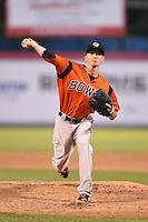 Bowie Baysox pitcher Zach Davies (7) delivers a pitch during a game against the Binghamton Mets on August 3, 2014 at NYSEG Stadium in Binghamton, New York.  Bowie defeated Binghamton 8-2.  (Mike Janes/Four Seam Images)