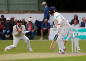 June 11th 2017, Trafalgar Road Ground, Southport, England; Specsavers County Championship Division One; Day Three; Lancashire versus Middlesex; Stephen Parry of Lancashire edges the ball into the slips and is caught by Malan for 4 off the bowling of James Harris; Lancashire were 217-8 at lunch in reply to Middlesex's first innings total of 180 all out