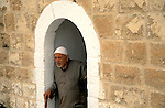 The Judean desert, a Palestinian man in Nabi Musa, holy site for Muslims housing according to tradition the grave of Prophet Moses&amp;#xA;<br />